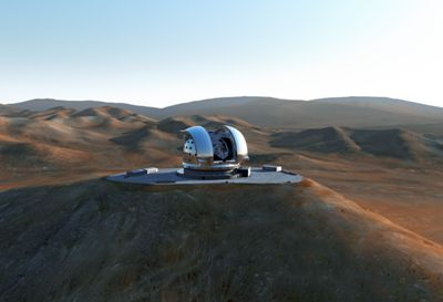 Artist's rendition of the completed E-ELT | ESO