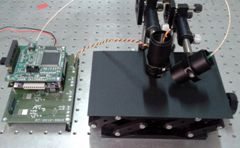 Optical sensor designed to detect salt on the road