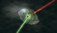 First laser-like X-ray light from a solid