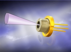 1,550nm pulsed laser diode with integrated micro lens